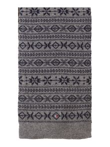 Dusty fairisle scarf
