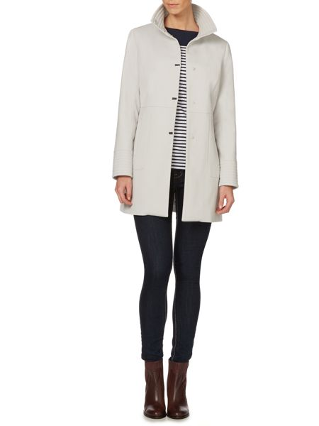 Kenneth Cole Coat funnel neck with ribbed cuffs