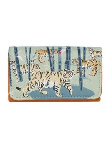 Collective blue tiger flap over purse