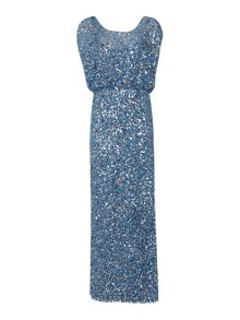 Sequin blousson gown