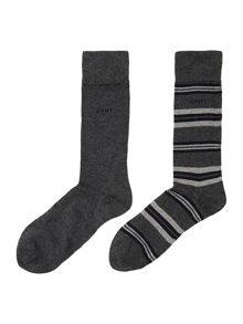 2 pack stripe sock in a box