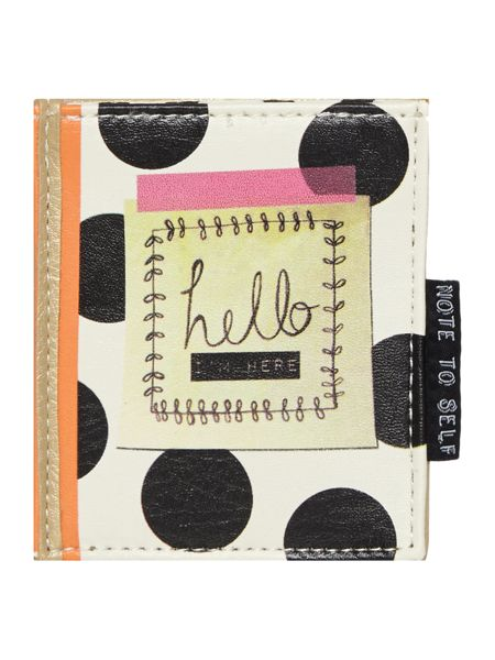 Disaster Note to self multi-coloured travel card holder
