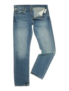 Denim and Supply Ralph Lauren 12.75oz mid wash slim leg jean