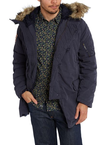 Denim and Supply Ralph Lauren Fur hooded down jacket