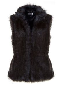 Blue & Black Faux Fur Gilet