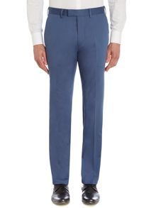 Cotton sateen slim fit trousers