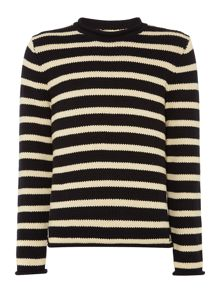 Striped roll neck knit
