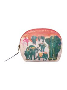 Collective blue elephants cosmetic bag