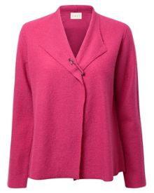 Boiled Wool Jacket With Pin