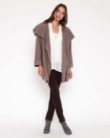 Drape Boiled Wool Coat