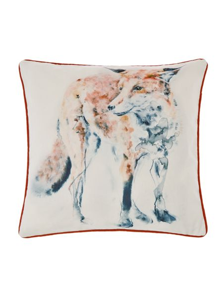 Linea Watercolour fox Cushion