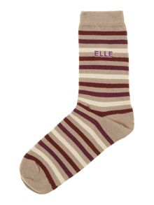 STRIPE WOOL & VISCOSE MIX SOCKS
