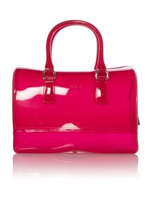 Candy pink medium bowling bag