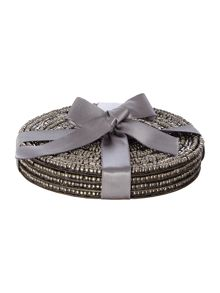 Linea Halo Set Of 4 Coasters Pewter
