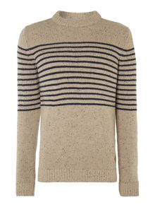 Jack & Jones Placement stripe crew neck jumper