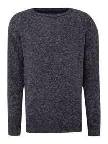 Twist crew neck knit