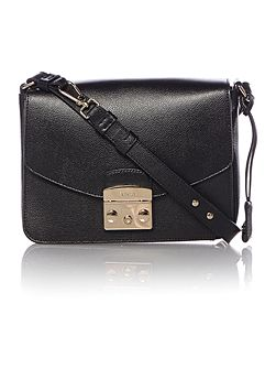 Metropolis black small flap over cross body bag