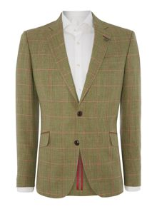 Simon Carter Large Check Regular Fit Jacket