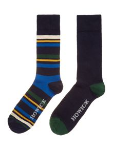 2 pack marine stripe socks