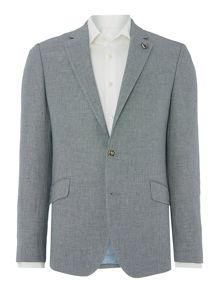 Simon Carter Birdseye Linen Blend Regular Fit Suit Jacket