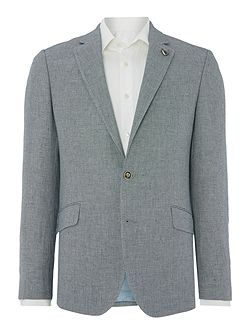 Birdseye Linen Blend Regular Fit Suit Jacket
