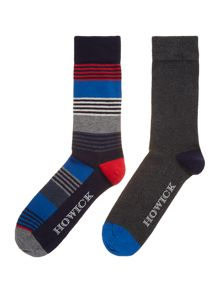 2 Pack Patriotic Stripe Socks