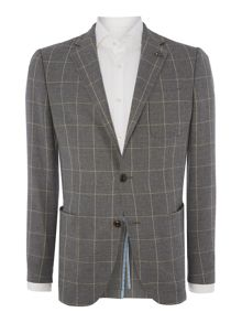 Hopsack Over Check Jacket