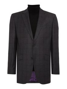 Simon Carter Hopsack Over Check Jacket