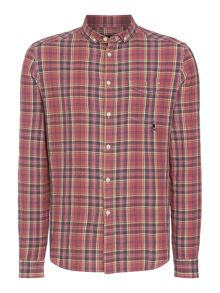 Pheonix Plaid Check Heavy Wash Long Sleeve Shirt