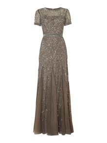 All over diamond sequin dress