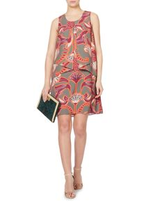Enlarged logo printed envelope dress