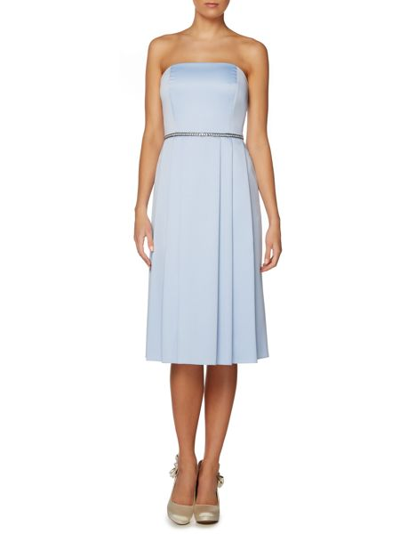 Shubette Sleeveless midi stretch sateen beaded waist