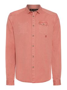 Label Lab Canyon Heavily Washed Mock Pocket Shirt