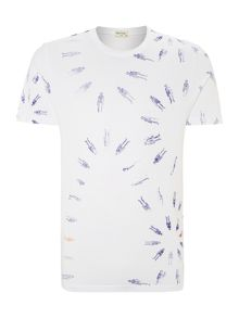 Skeleton floral graphic t shirt