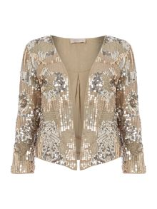 Encrusted bead and sequin jacket