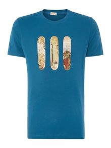 Skateboard graphic t shirt
