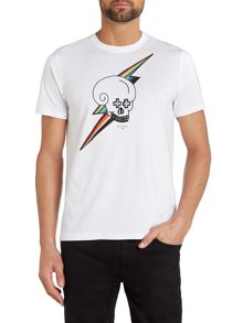 Lightening Skull T Shirt