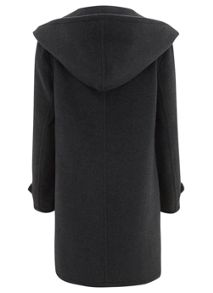 Charcoal Hooded Coat