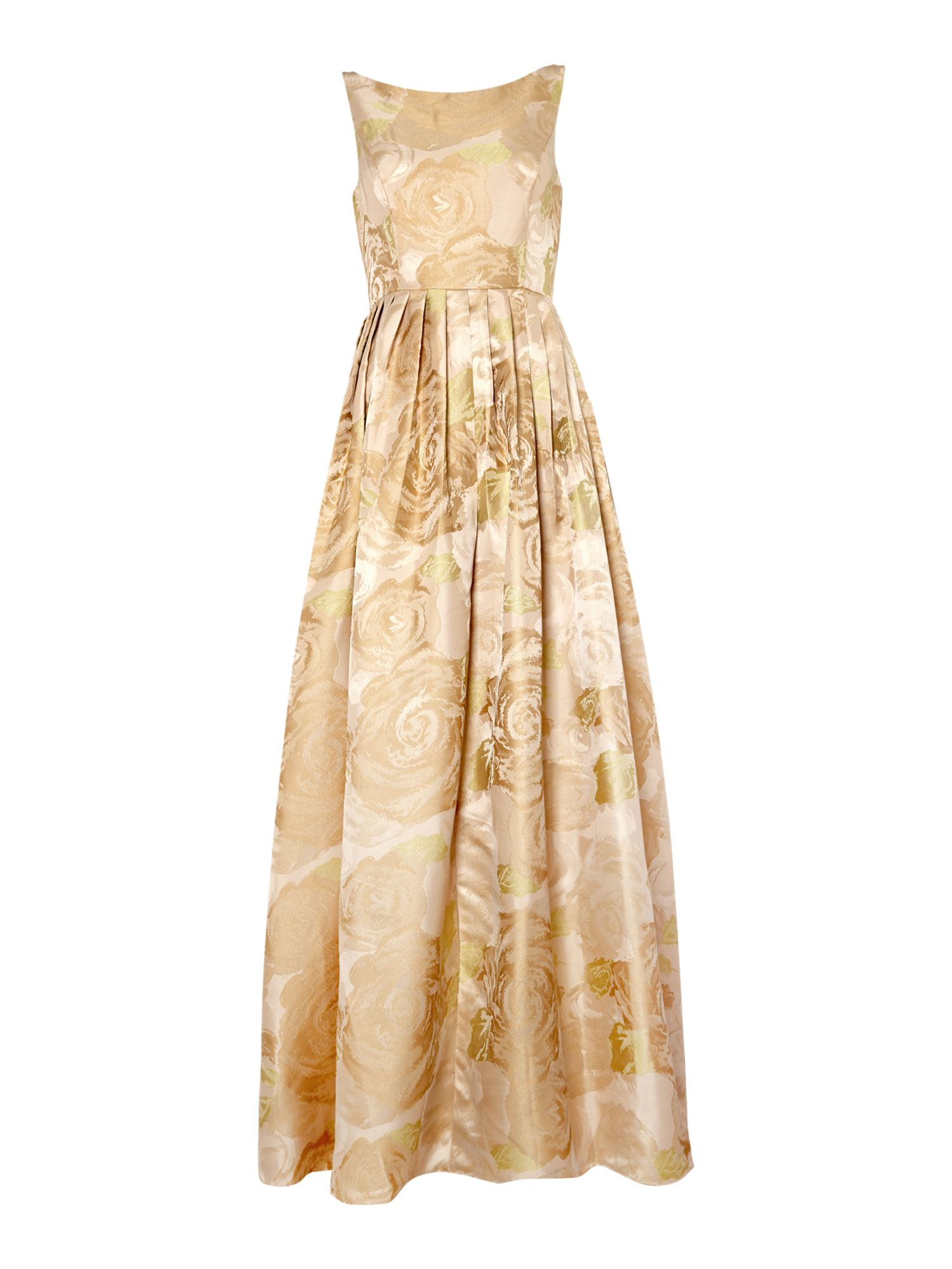 Adrianna Papell Floral jacquard gown $125.00 AT vintagedancer.com