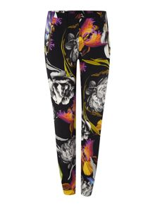 Orchid printed slouch trousers