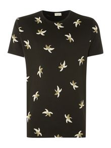 All Over Banana Print T Shirt