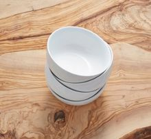 Linea Luna set of 4 porcelain cereal bowls