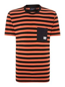 Bold striped pocket t shirt