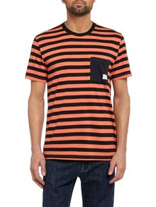 Paul Smith Jeans Bold striped pocket t shirt