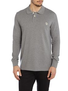 Long sleeve logo polo