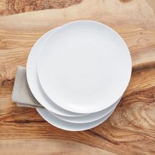 Linea Luna coupe set of 4 porcelain dinner plates