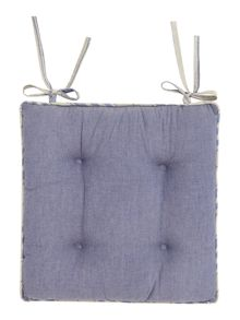 Chambray chair pad