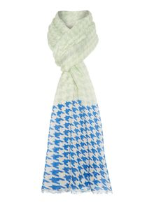 Marella Houndstooth printed large scarf