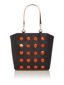 Lucy perforated winged tote