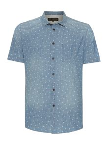 Alamos Light Wash Denim Short Sleeve Shirt